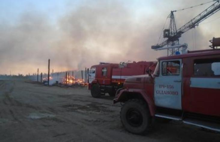 ВУсть-Илимском районе пожарные спасли отогня посёлок Седаново