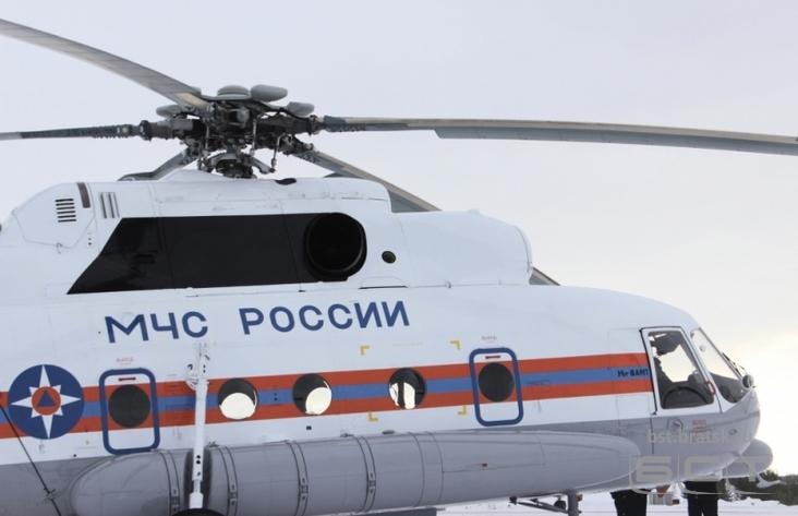ВБратском районе снова ищут пассажира упавшего вертолёта
